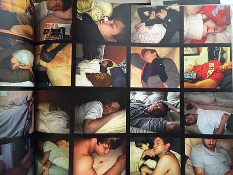 Keep it cheeky and fun. One of my favorite past times is taking pictures of Andy sleeping because he's almost always sleeping and I'm creepy. Reserve a few pages of your book for funny quirks of the one you love.