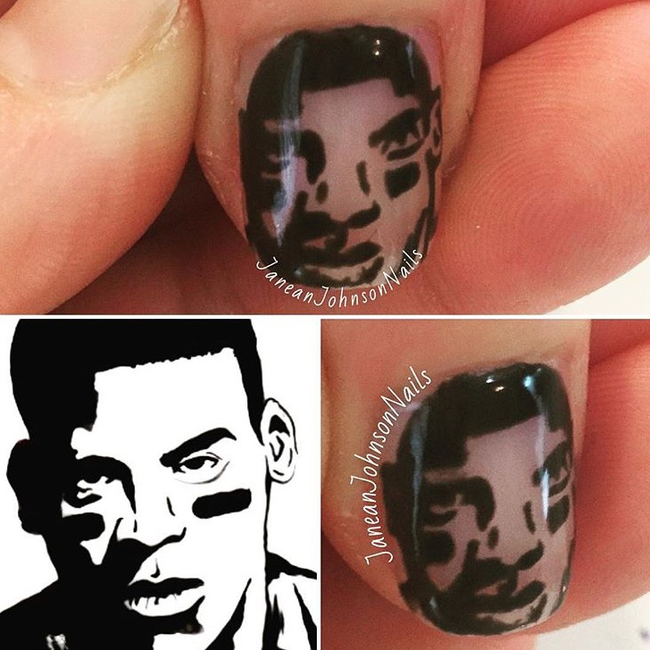 Nail art a sit down with nail artist janean johnson nails yep thats cam newton prinsesfo Image collections