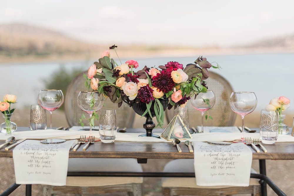 Photography by Anya Kernes, Styling by Cluster Events, Flowers by Chelsea Carter Events, Screen Printing by Papier Velours.