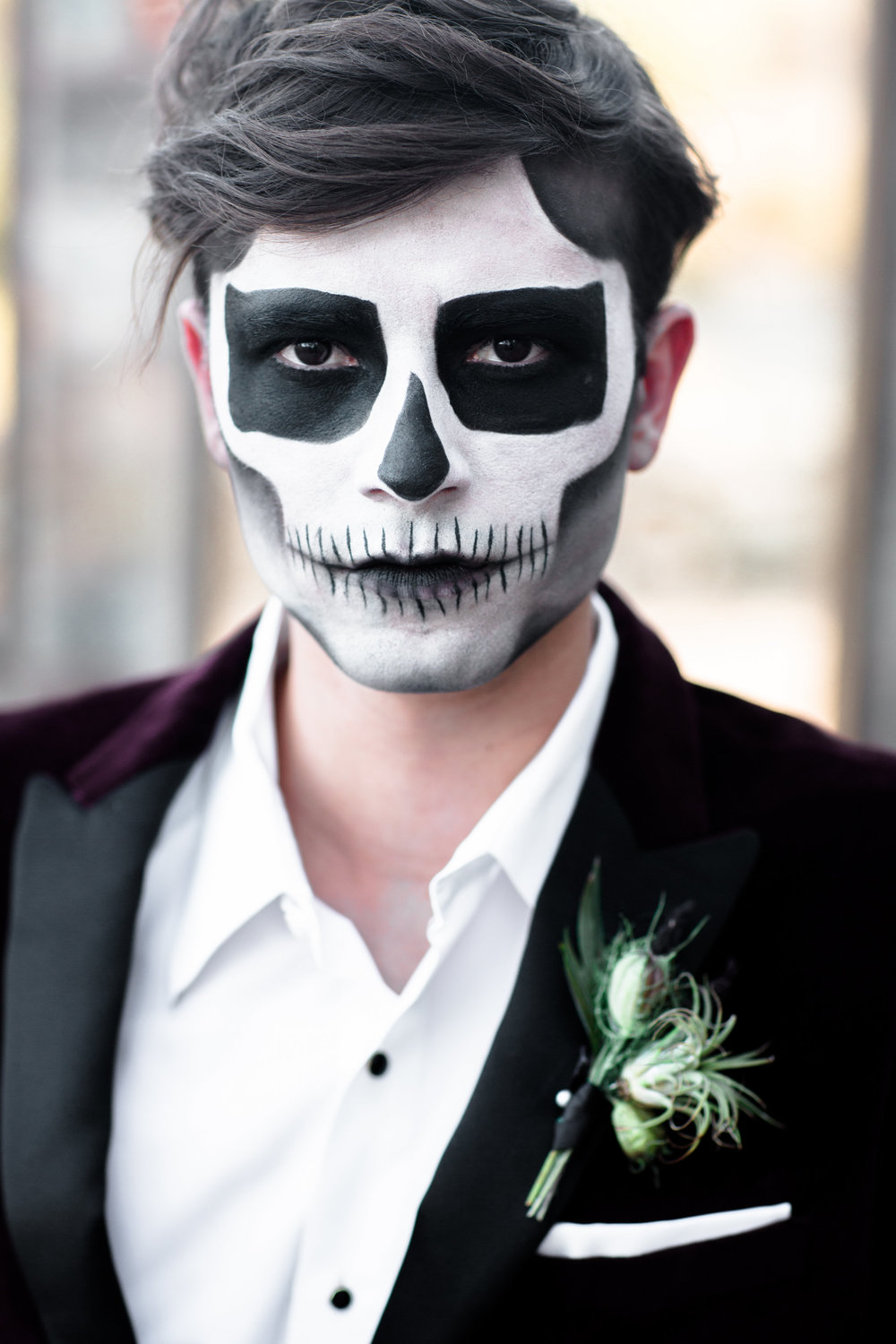 Shotgunning for Love Letters - I feel you in my bones | Halloween Skeleton Wedding