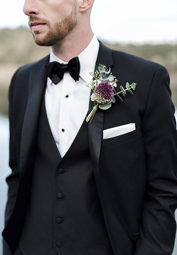 Arizona Lakeside Winter Elopement with Saje Photography | Shotgunning for Love Letters | Groom and Tux