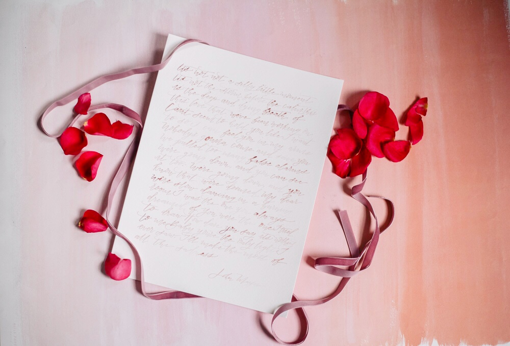 Valentine's Day Fun: Galentine's Day in Baltimore | Shotgunning for Love Letters - Calligraphy Love Letter