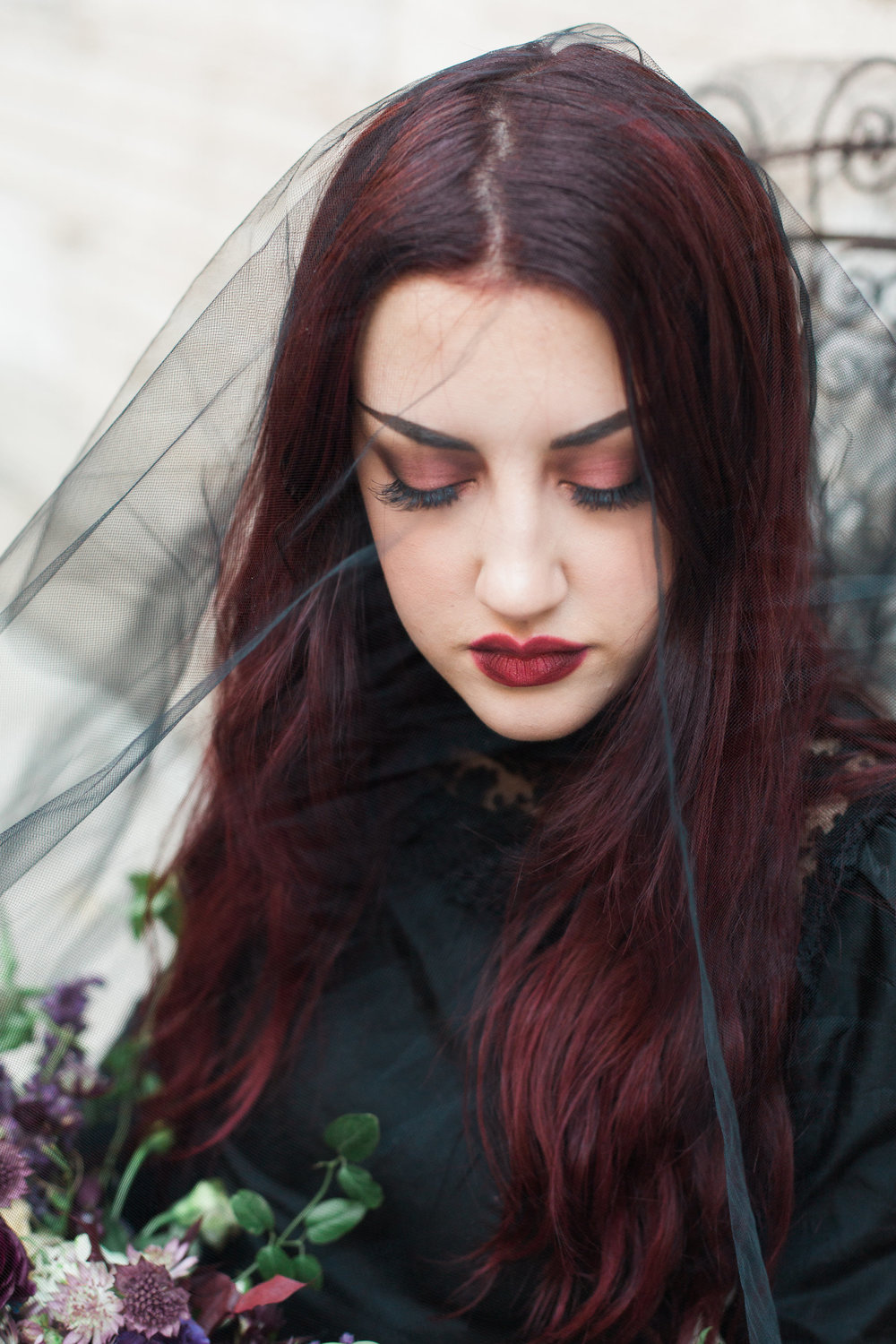 Haunting Vampy Halloween Bride and Wedding Editorial