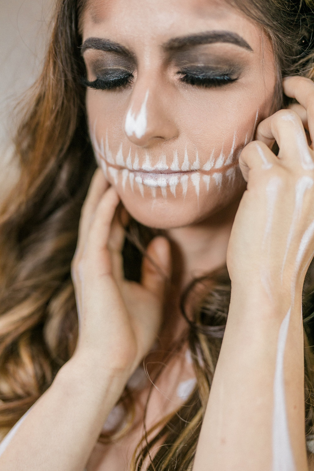 Wispy Bones Skeleton Fine Art Halloween Wedding Editorial in Dallas, Texas