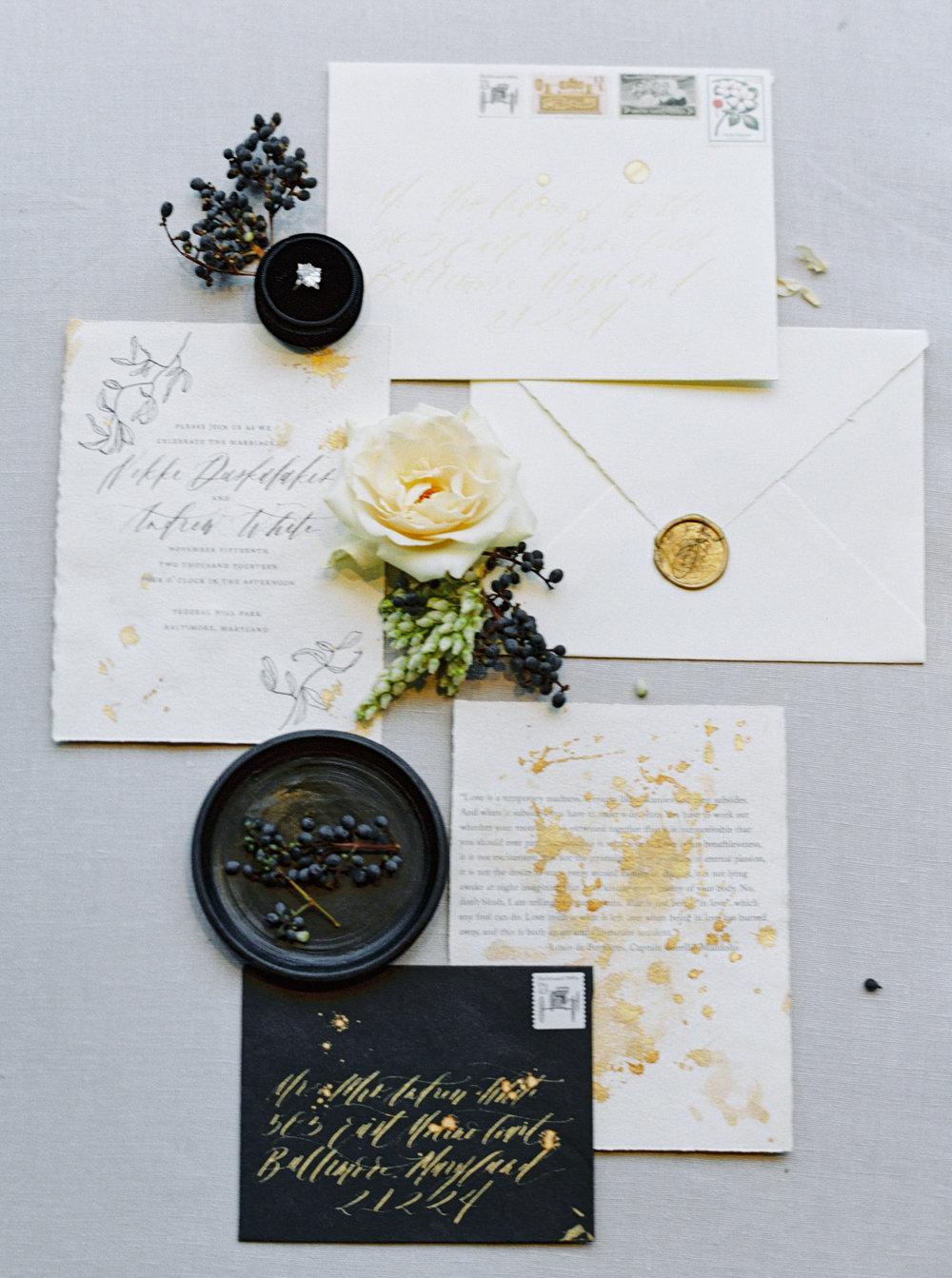 Semi Custom Calligraphy Wedding Invitations   Shotgunning for Love Letters, Baltimore, MD