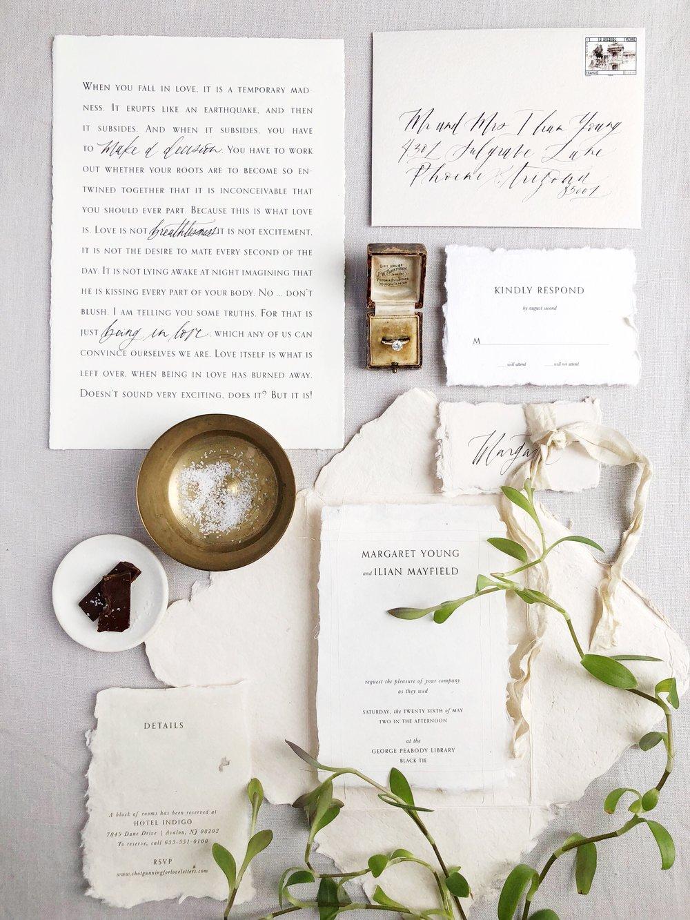 Semi Custom Wedding Invitation | Shotgunning for Love Letters