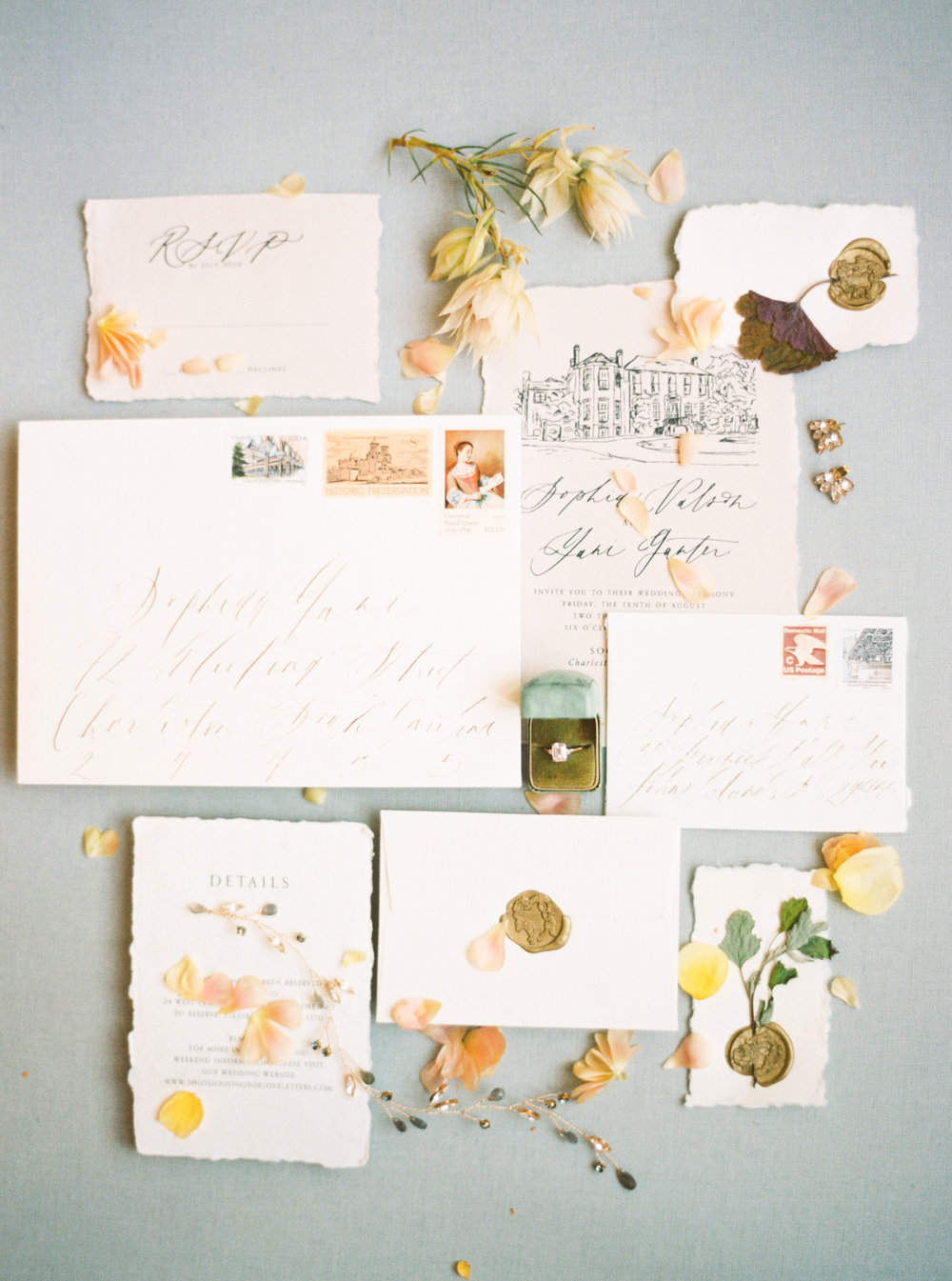 Fine Art Fall Wedding Inspiration With Southern Charm in Charleston | Shotgunning for Love Letters