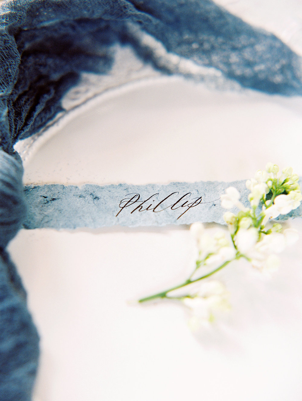 Old World Blue Palette Wedding Inspiration at Virginia House