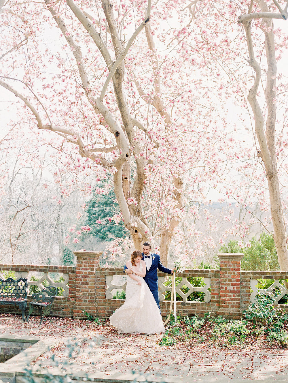Old World Blue Palette Wedding Inspiration at Virginia House