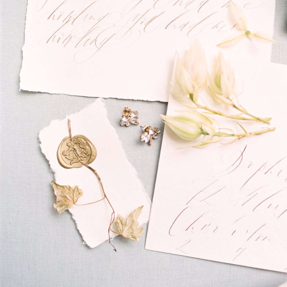 Wax Seal - Semi Custom Calligraphy Wedding Invitations | Shotgunning for Love Letters, Baltimore, MD