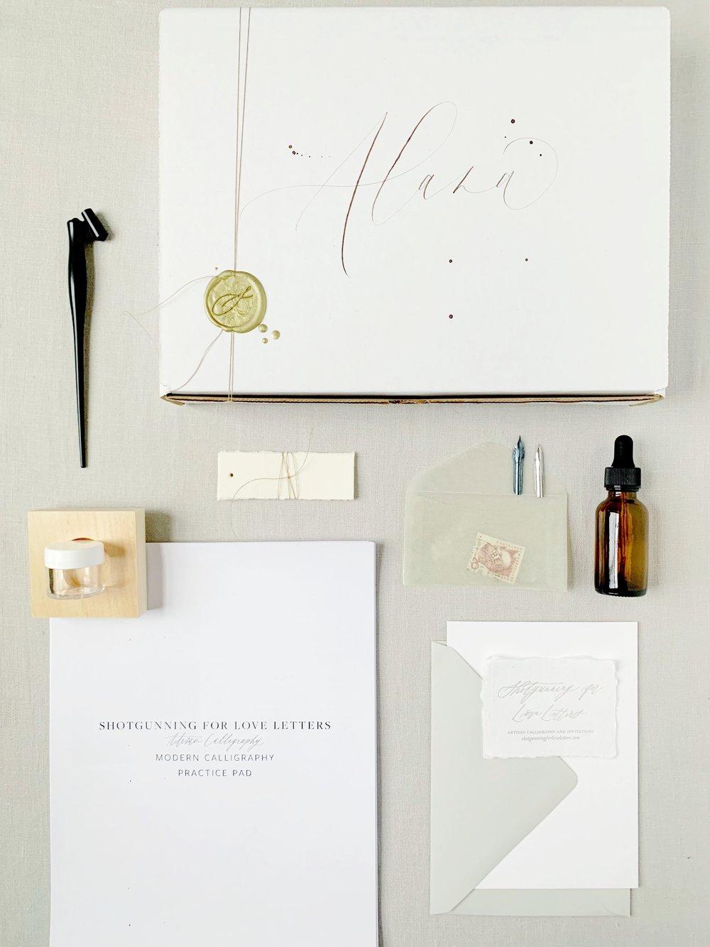 Learn Modern Calligraphy Beginners Kit | Shotgunning for Love Letters