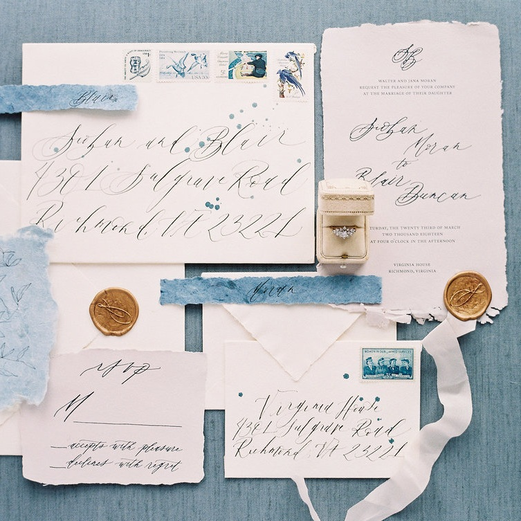 Shotgunning for Love Letters Calligraphy and Wedding Invitations