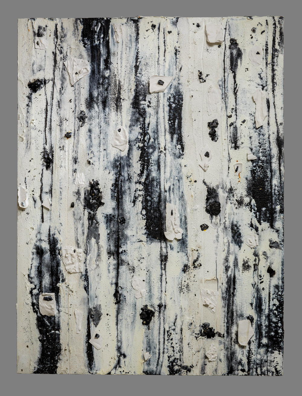 Blanc Mixed media on panel 48 x 36 in./ 121.9 x 91.4 cm.