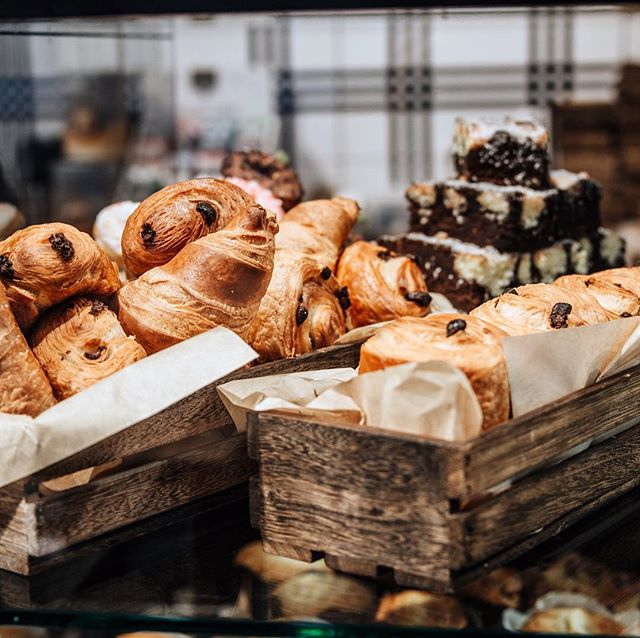 We've got you covered on this grey, rainy day 🥐 #visitmaastricht #maastricht #pastry #croissant #lunch #saturday #chocolate #coffee