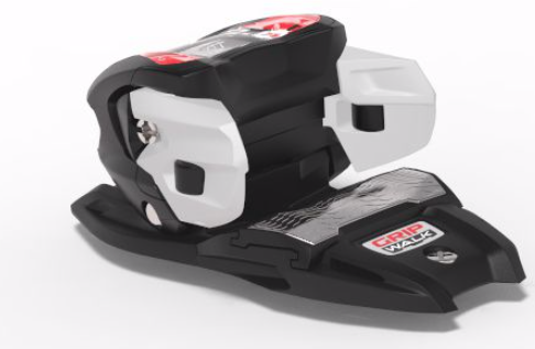 Grip Walk ready binding toe with curved metal AFD. Credit: Marker