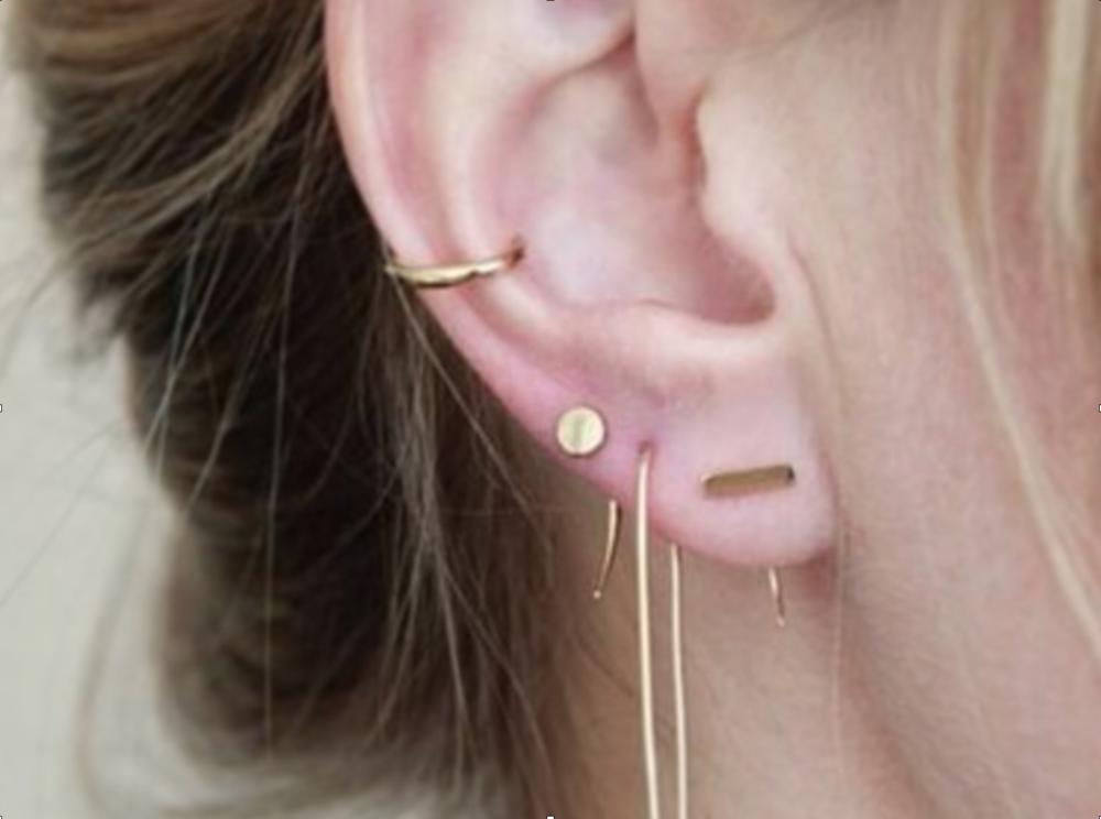 The Wearers Guide To Multiple Ear Piercings Luxury Handmade
