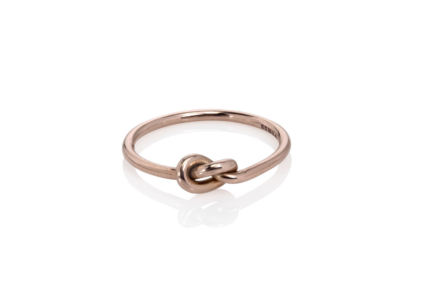 Solid Gold Knot Ring Handmade Jewellery London The Wearer