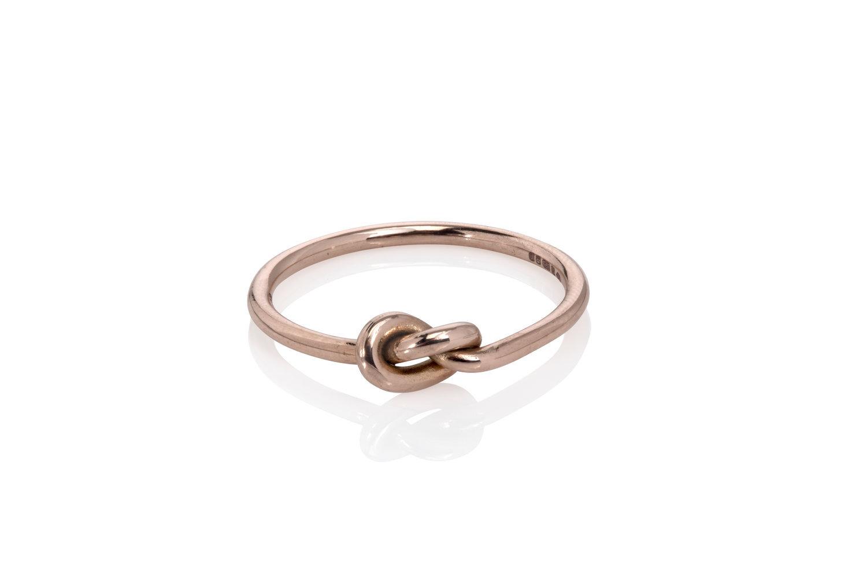 Knot Ring Rose Gold Handmade Jewellery London The Wearer