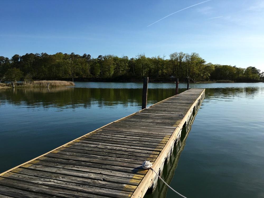 The dock at Smith Point Marina.