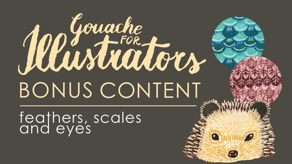 Goauche for Illustrators Online Class Bonus Content by Romica Spiegl-Jones