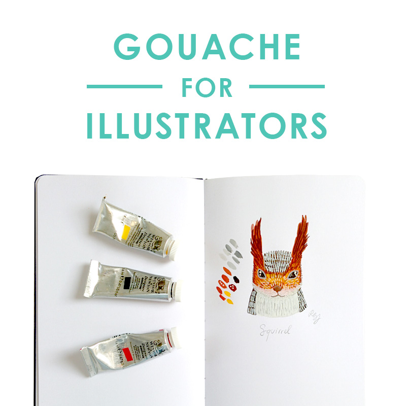gouache for illustrators self-paced online course for beginners by romica spiegl-jones