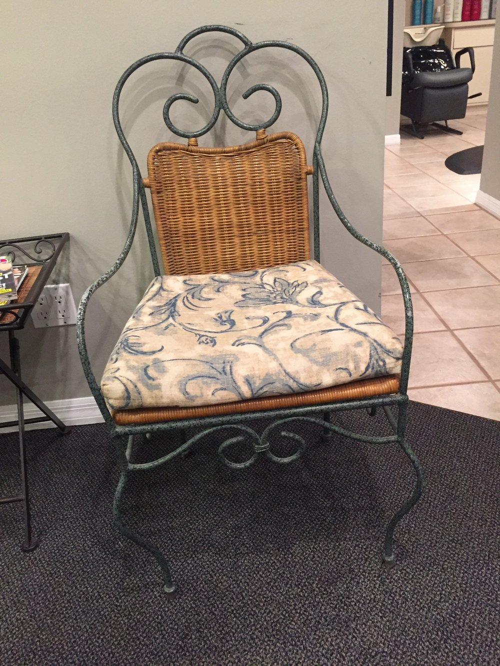 Iron & Wicker Chairs - $30 (each)  3 available