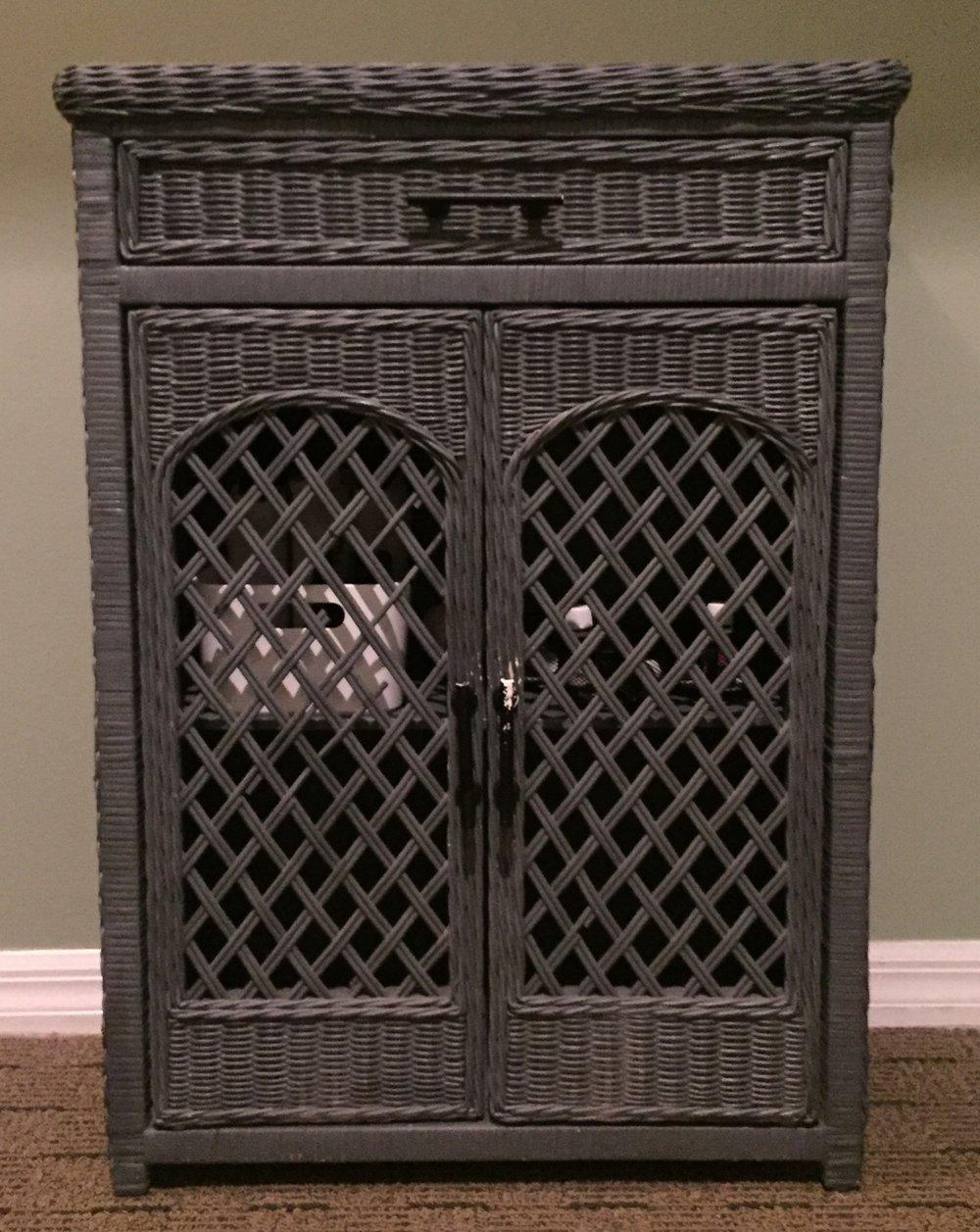 Wicker Cabinet - $30