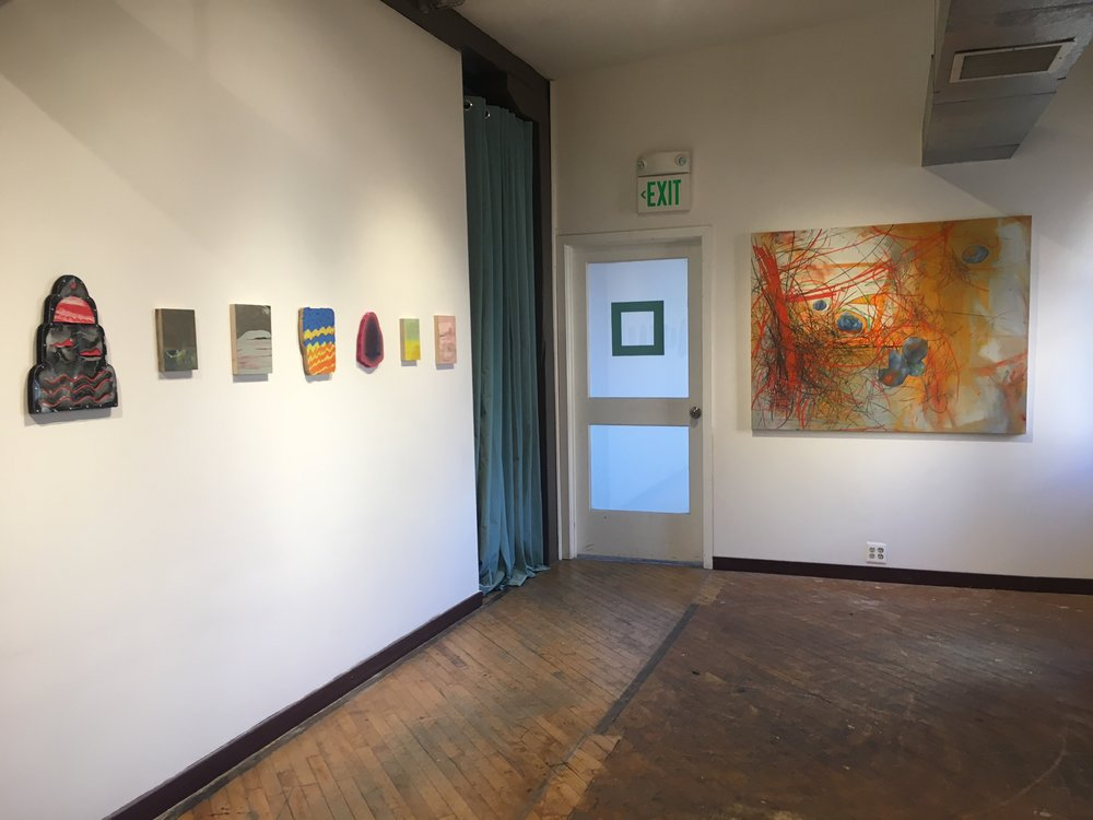Ian Murphy & Julia Ribeiro (left wall), Esther Yi (right wall)