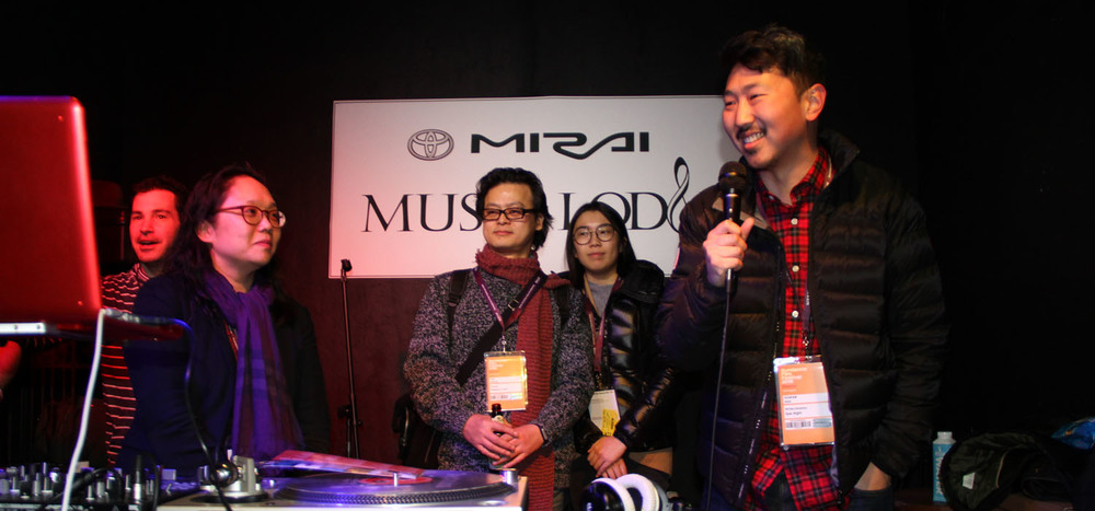 Director Andrew Ahn addresses the crowd at the 2016 Asian Pacific Experience in Park City. (Photo: Abraham Ferrer/Visual Communications Photographic Archive)