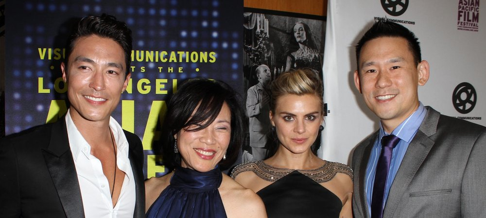 LAAPFF 2012 Opening Night with (from left) Daniel Henney, Janet Yang, Eliza Coupe, and Daniel Hsia.