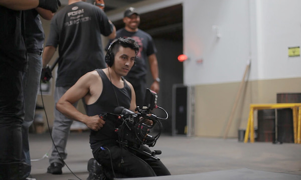 "DIRECTOR MATTHEW ABAYA CONTEMPLATES A SHOT ON THE SET OF ""VAMPARIAH."" (PHOTO: COURTESY THE FILMMAKER)"