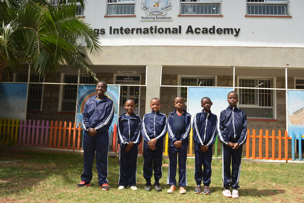 Students enrolled in the Embakasi Project who attend King's Academy