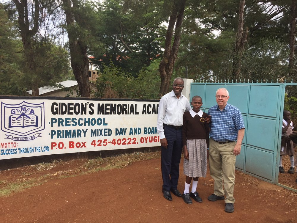 Side by Side and NGCI visiting Lilian at her school, Gideon's Memorial Academy