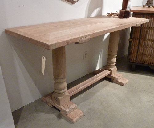 Reclaimed Pine and Cypress Console with Pickled Finish.jpg