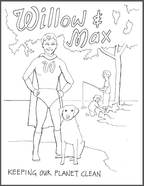 Willow and Max coloring pages by Ted Field and a package of 12 Sargent colored pencils