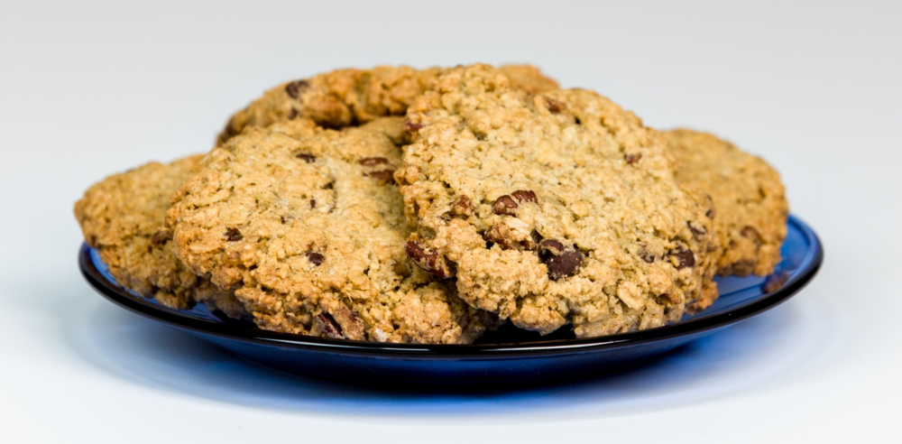 Four Chocolate Chip Oatmeal gluten-free cookies from Prairie Kitchens bakery