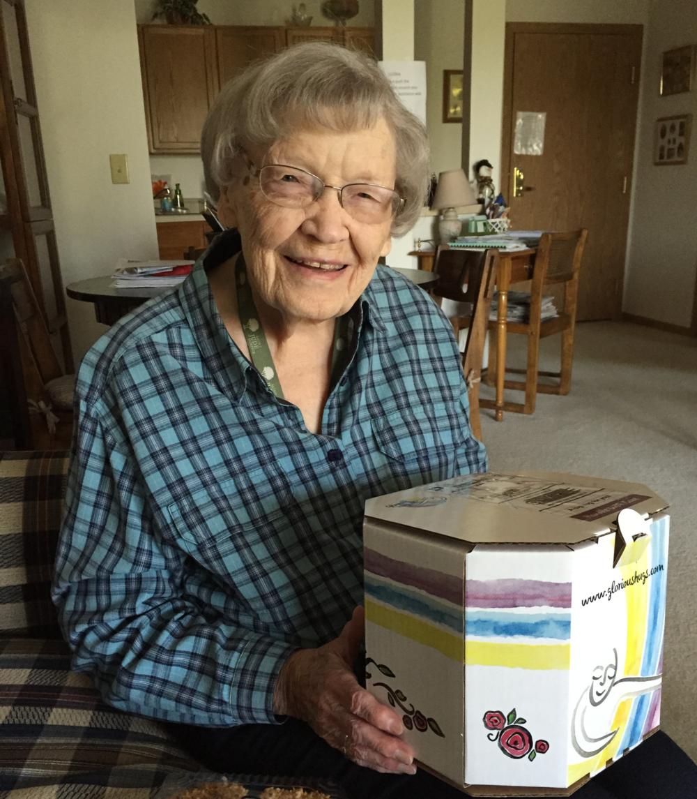 Grandma Gloria, the inspiration behind Glorious Hugs