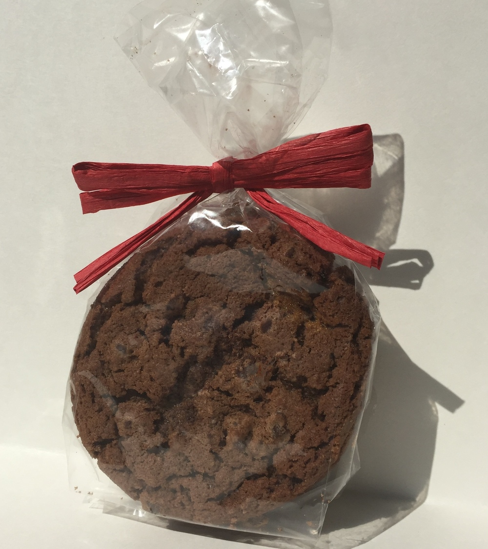 Three large Double Chocolate cookies from Grandma's Bakery