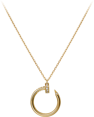 JUSTE UN CLOU NECKLACE Yellow gold diamonds.png