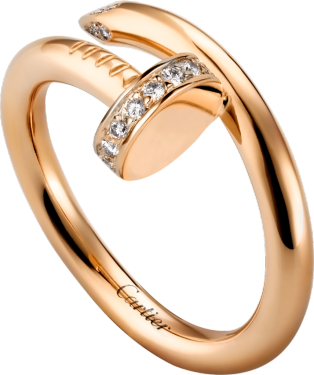 JUSTE UN CLOU RING Pink gold, diamonds.png