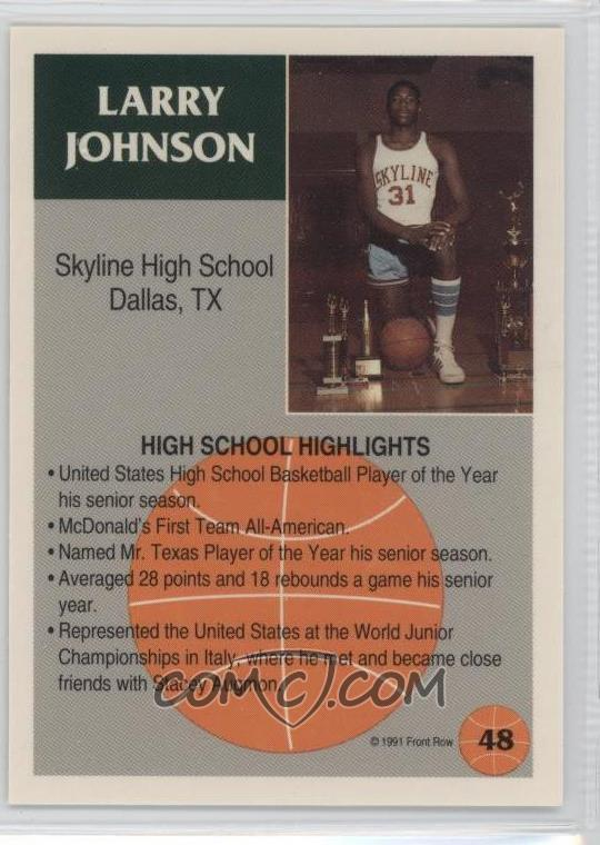Larry Johnson's Player Record during his time at Skyline High School