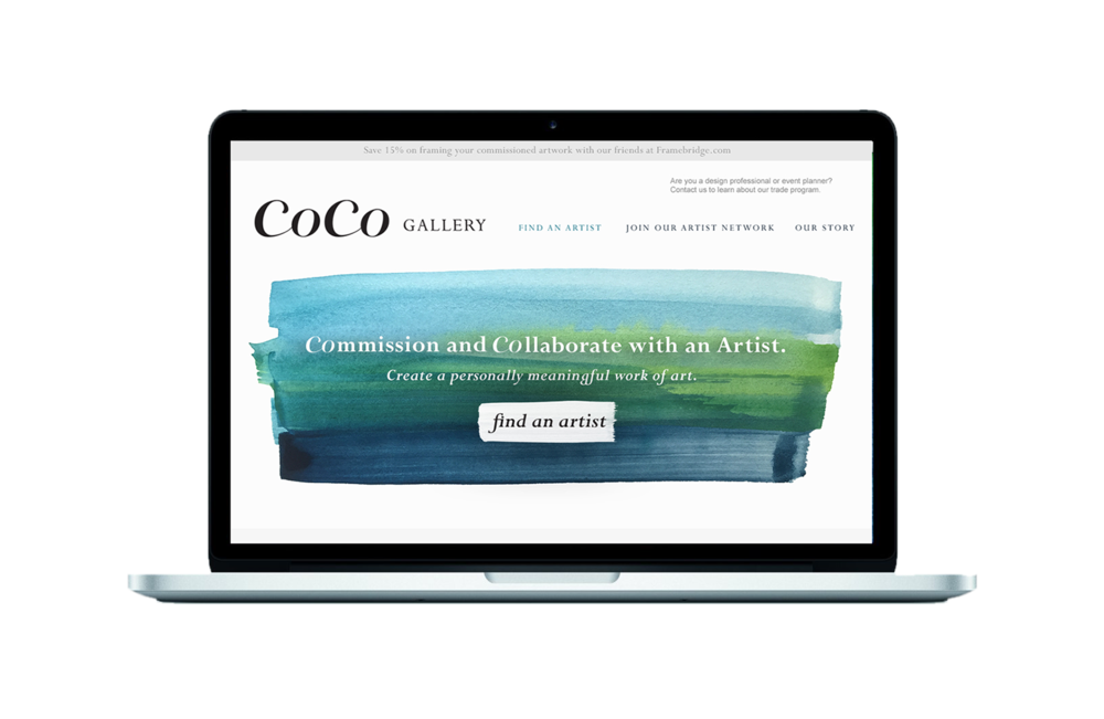 COCO GALLERY Brand ID, Website