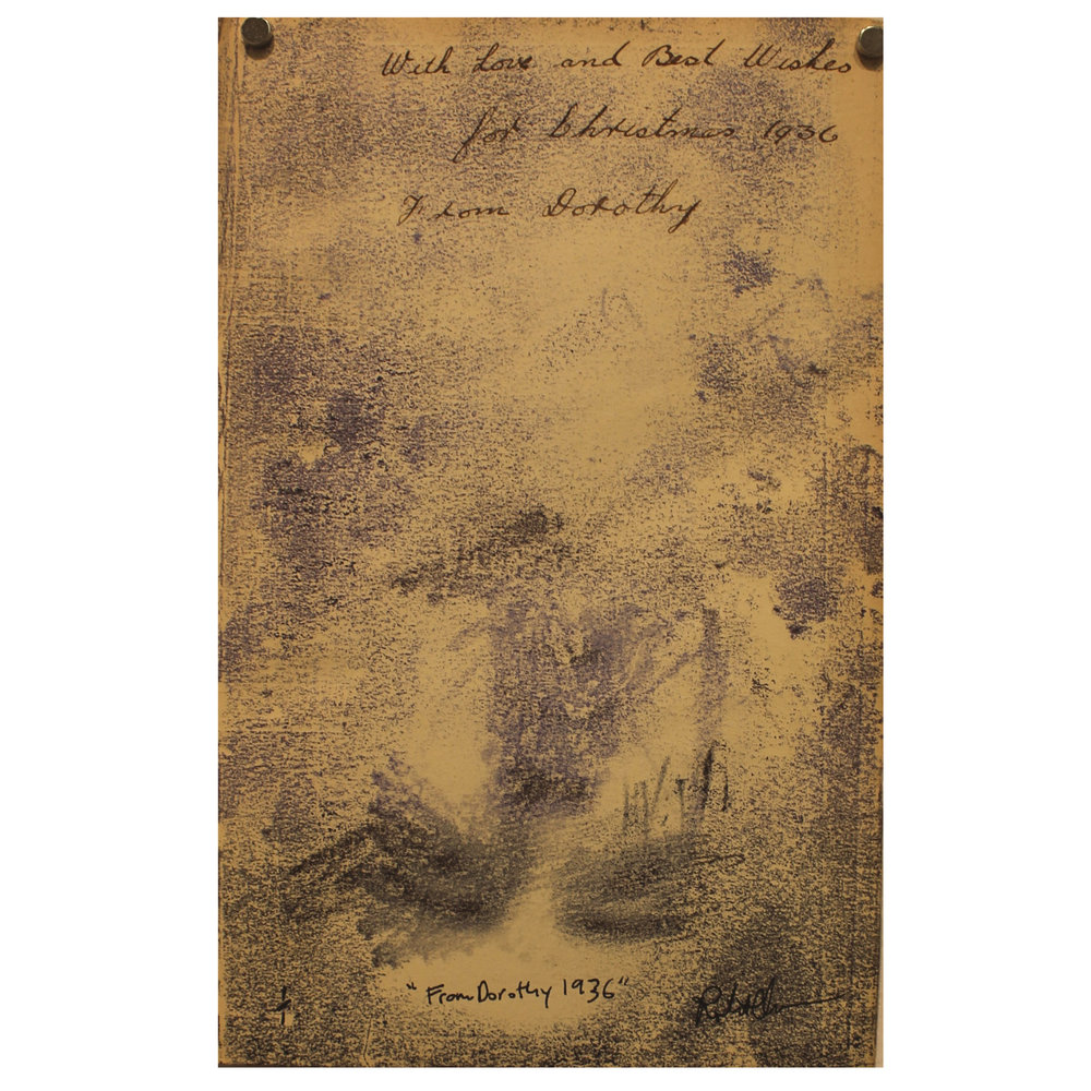 Robert Quance, From Dorothy, 1936, 2014, monoprint on vintage paper