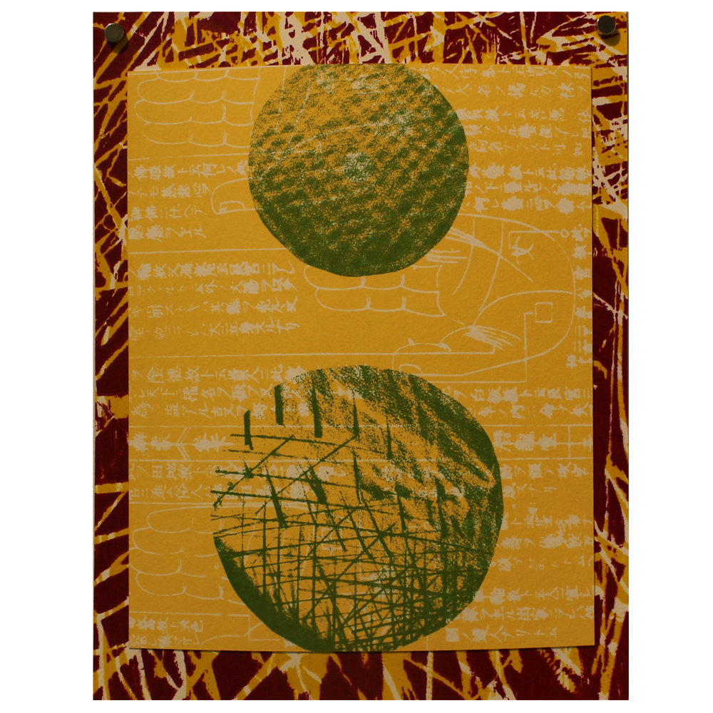 Ryan Laidman, Signals, 2016, screenprint & woodcut