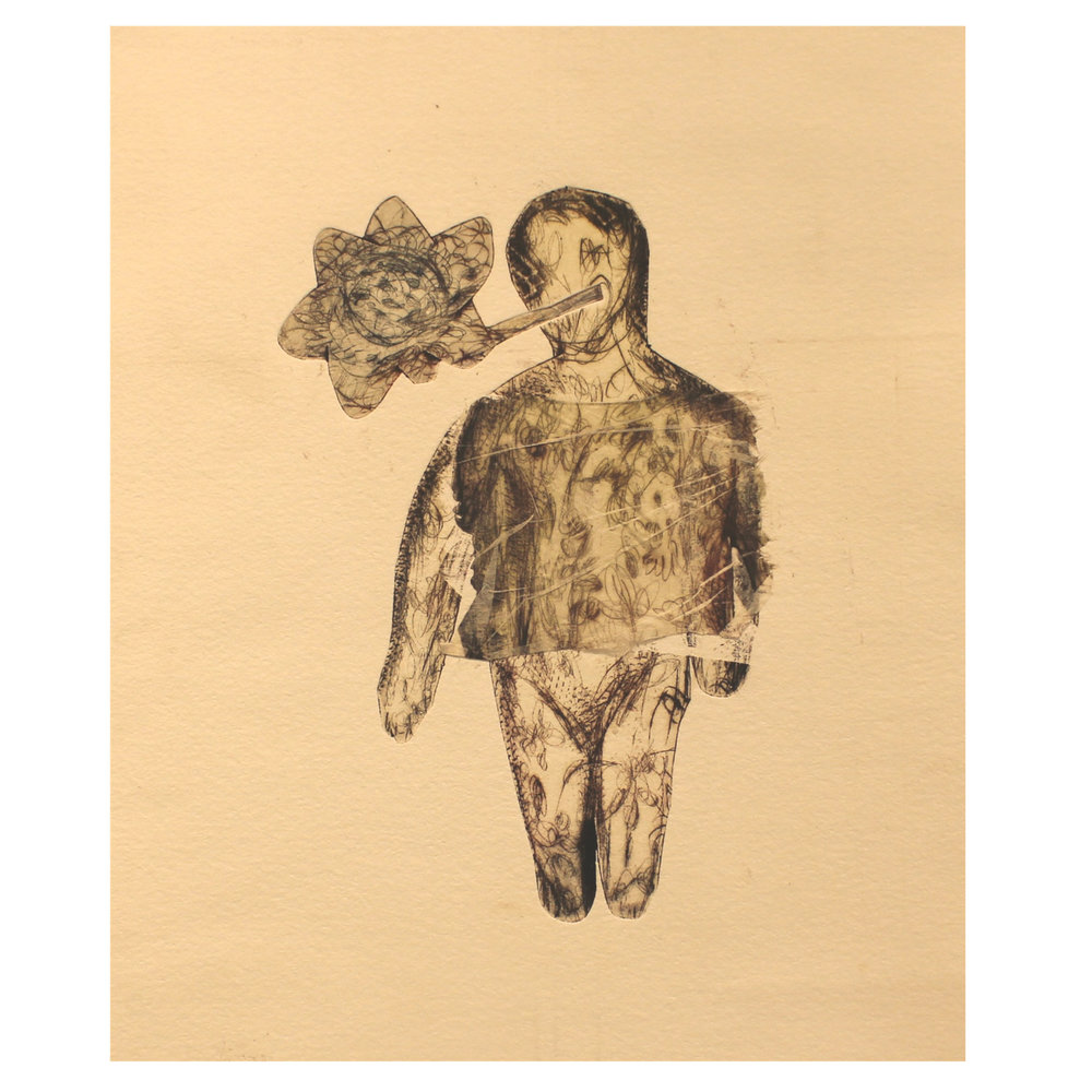 Irina Schestakowich, Nature Baby, 2016, monotype, chine colle