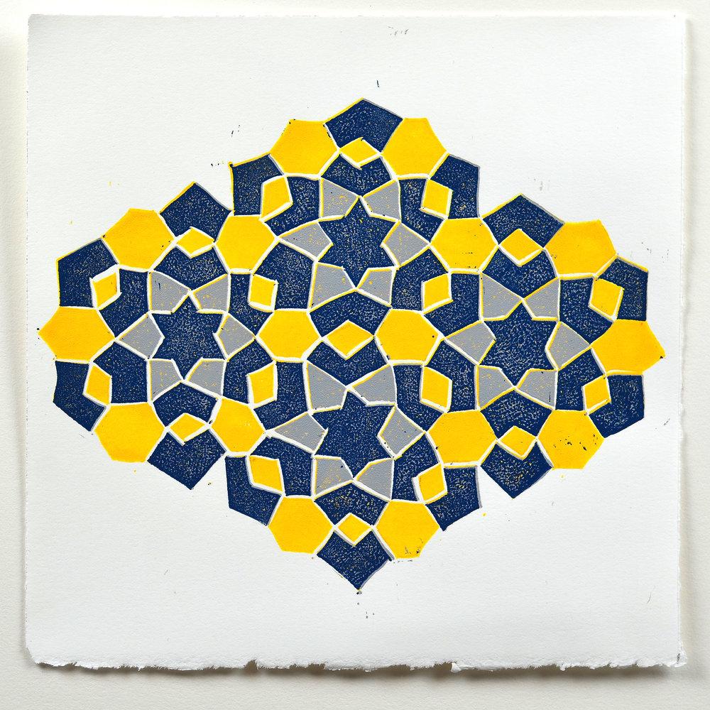 Erin Chapman     Fez Mosaic One   Lino