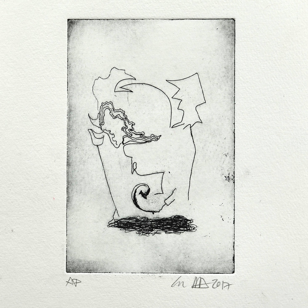 Ian Mitchell Dodds     Untitled (boy)   Etching