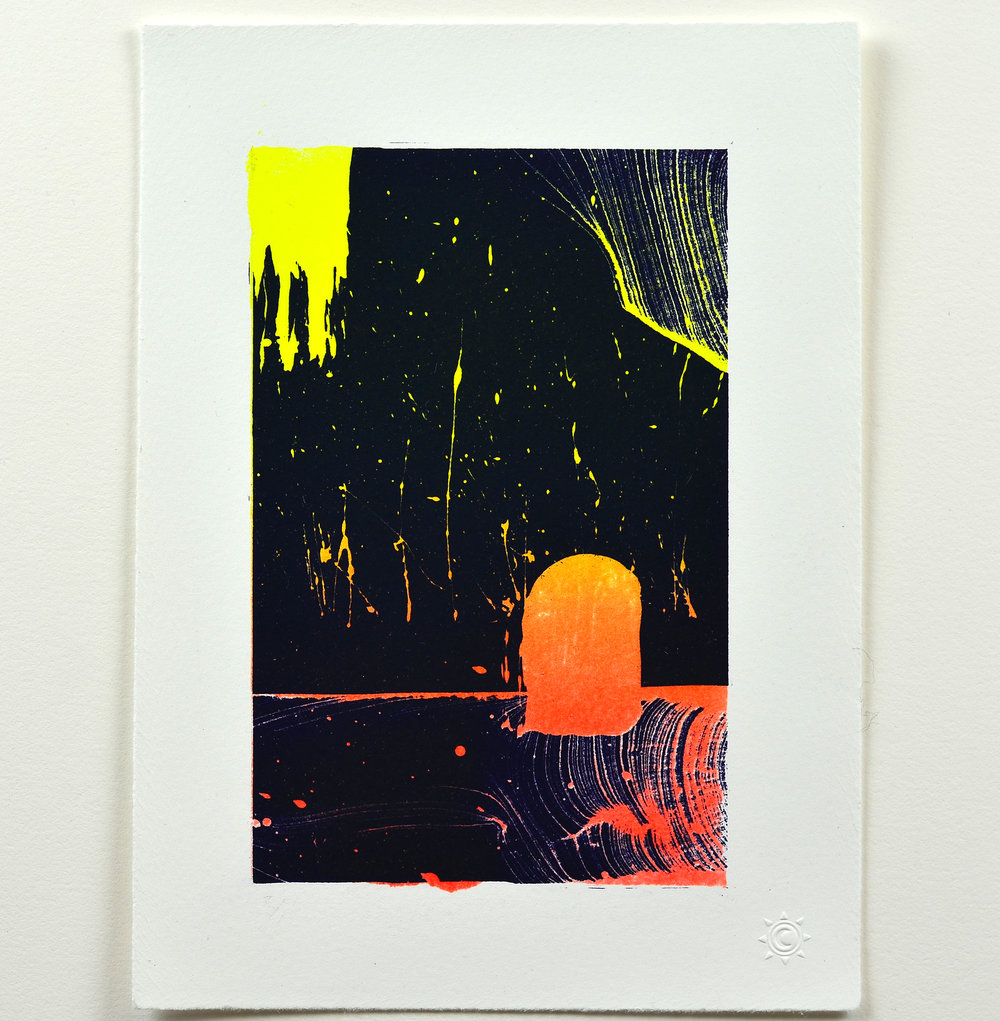 Eric Euler    Fissure   Lithograph