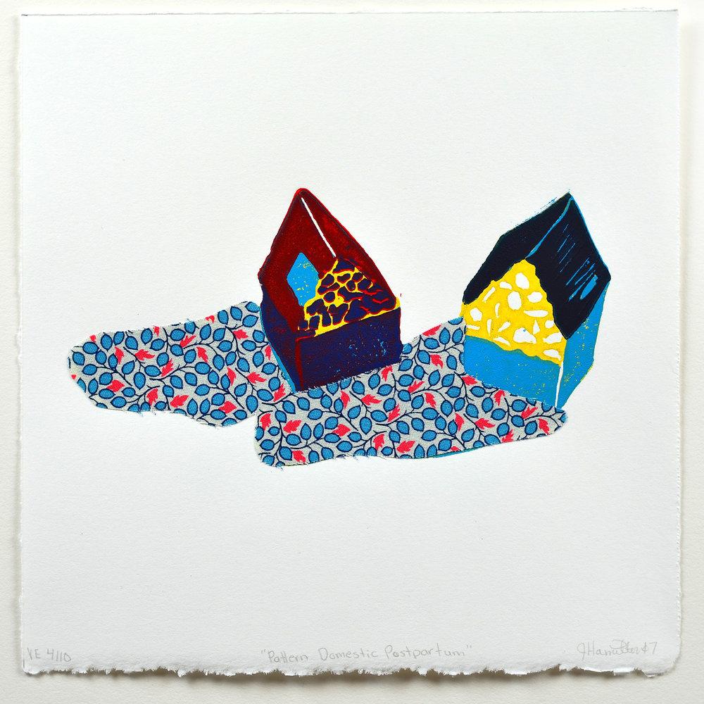 Jen Hamilton    Pattern Domestic Postpartum   Linocut