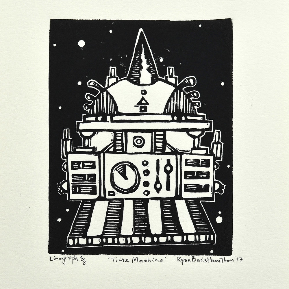Ryan Boris Hamilton    Time Machine   Lino